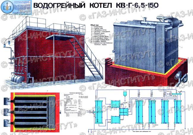 водогрейный котел КРГ-6,5-150